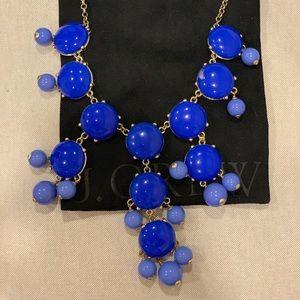 JCrew blue bauble necklace